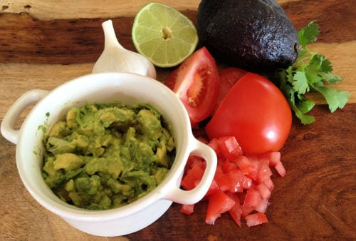 ingredients for chunky guacamole