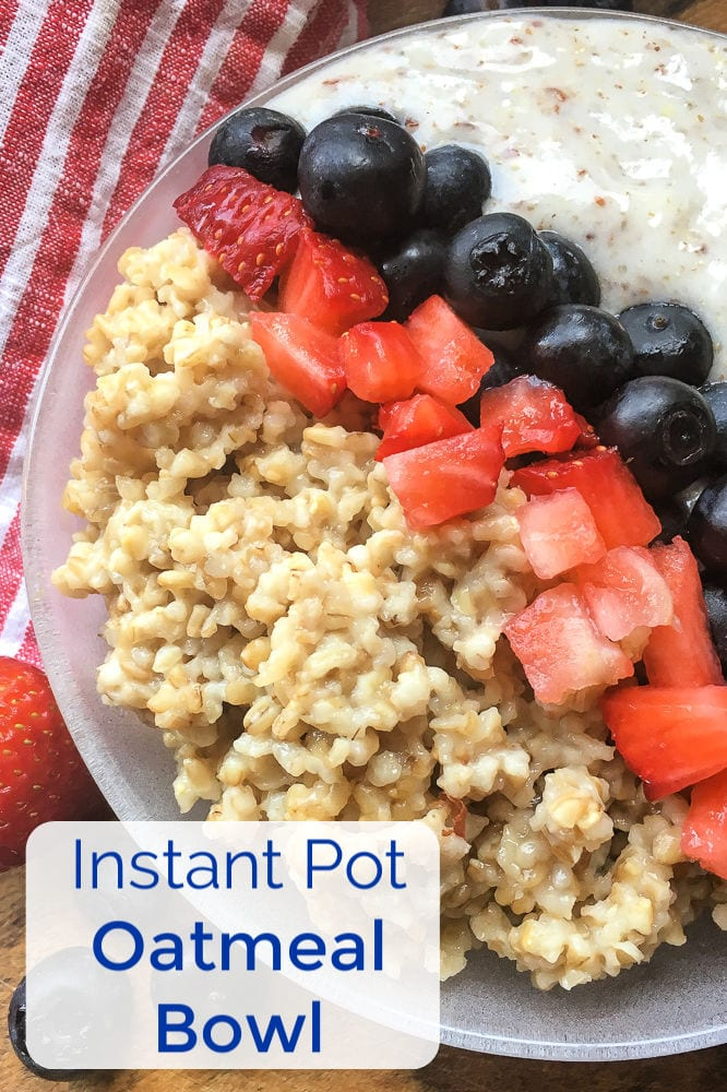 pin an instant pot oatmeal bowl