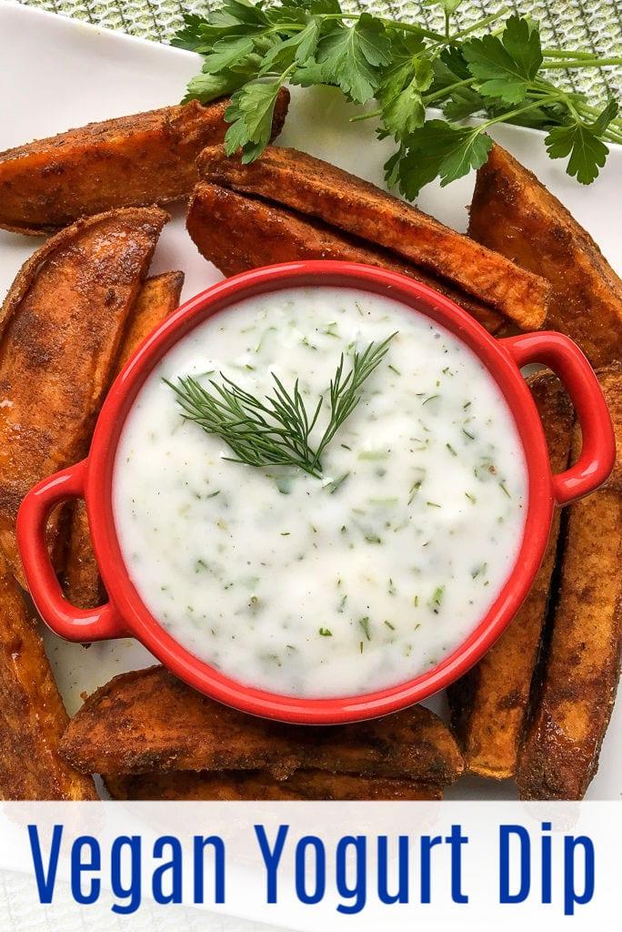 pin vegan yogurt dip with fries