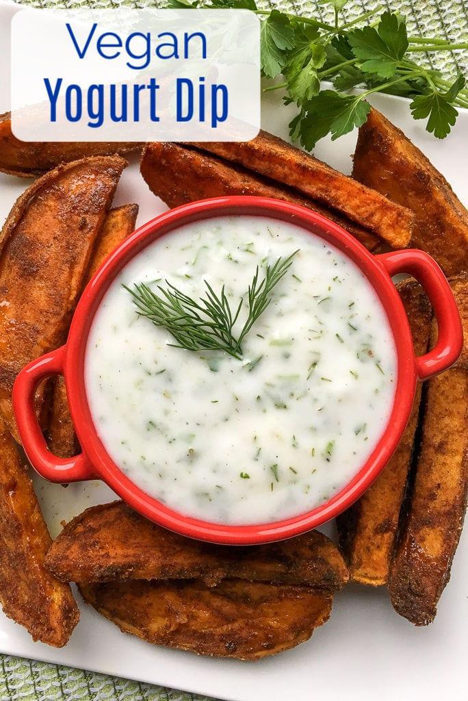 Vegan Coconut Yogurt Dip Recipe #VeganDip #VegetarianDip #CoconutYogurt #YogurtDip