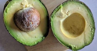 ripe avocado halves