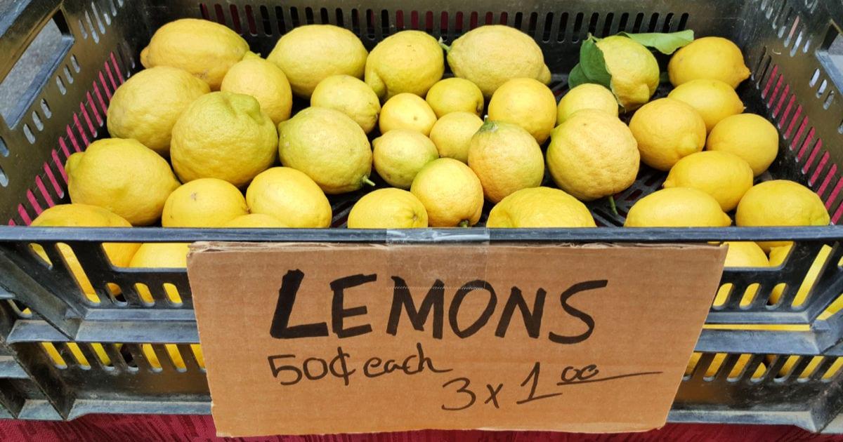 farmers market lemons for sale