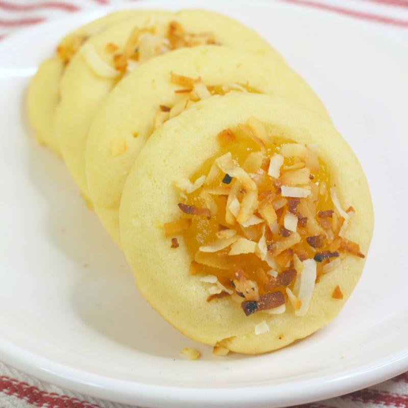 insta coconut lemon curd cookies