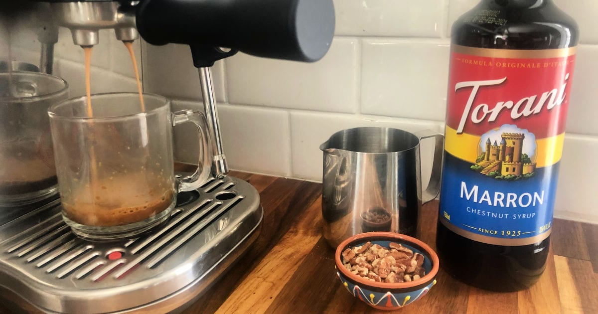 making a chestnut latte