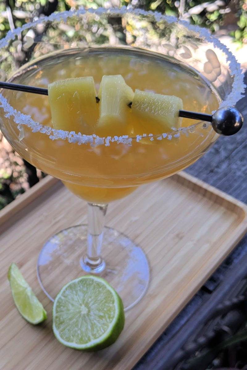 pin aged tequila pineapple margarita