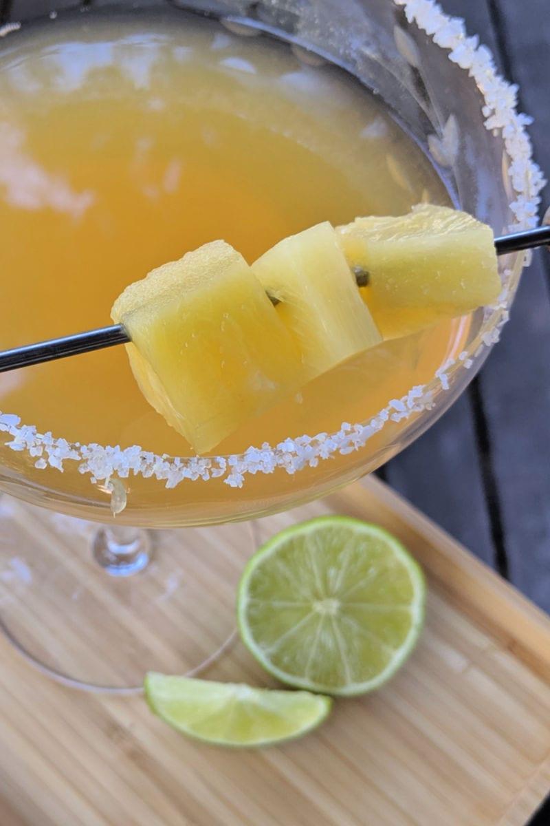 pin fresh pineapple margarita