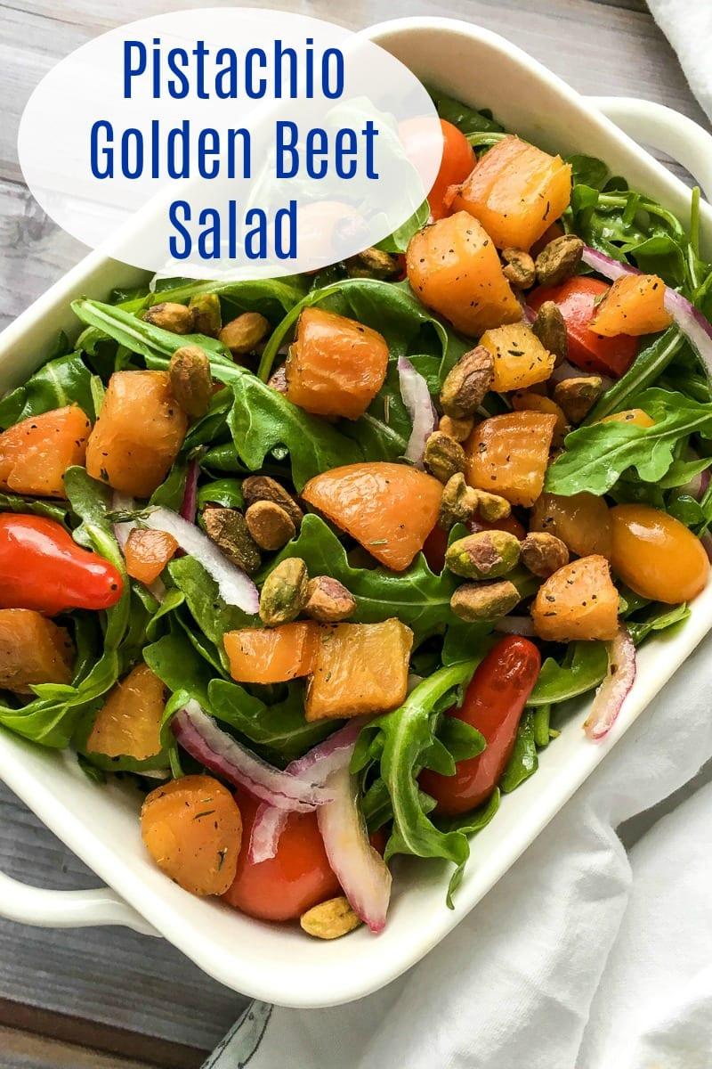 Vegan Pistachio Golden Beet Salad Recipe #BeetSalad