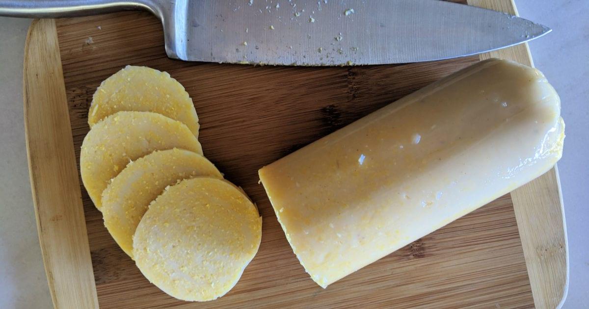 sliced polenta medallions