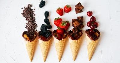 feature chocolate dipped cones dessert bar