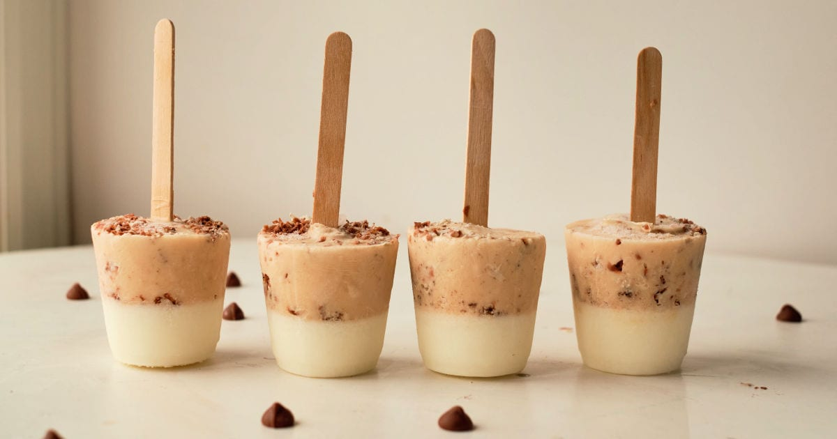 pb white chocolate popsicles