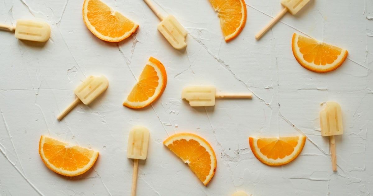 orange slices and orange popsicles