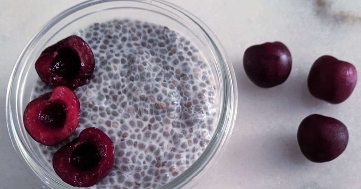 feature cherry protein chia pudding