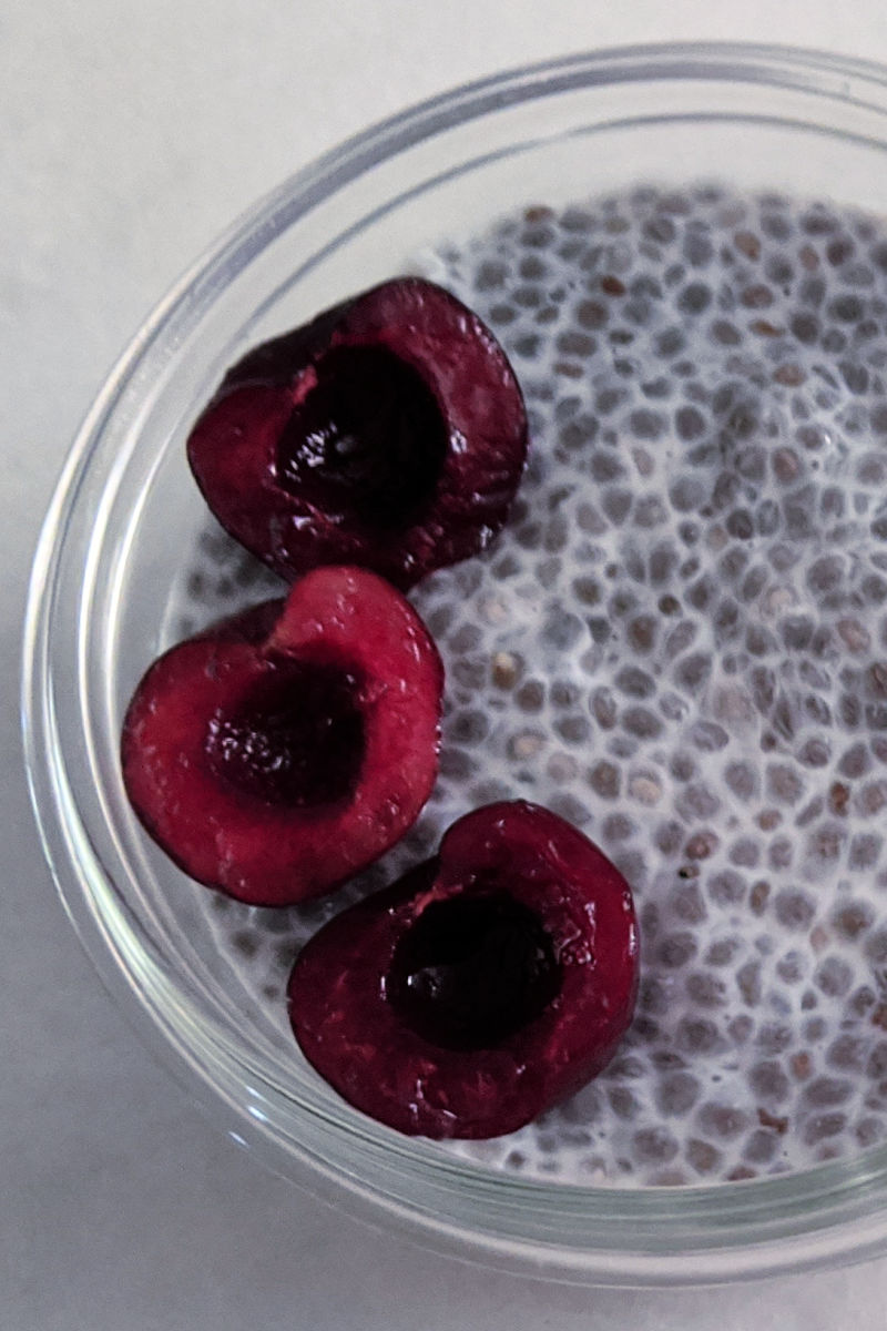 Hemp and Cherry Protein Chia Pudding Recipe #ChiaPudding #ProteinPudding #HempRecipes