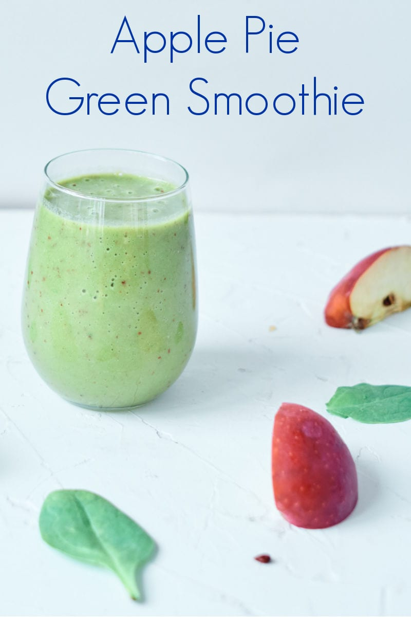 pin green apple pie smoothie
