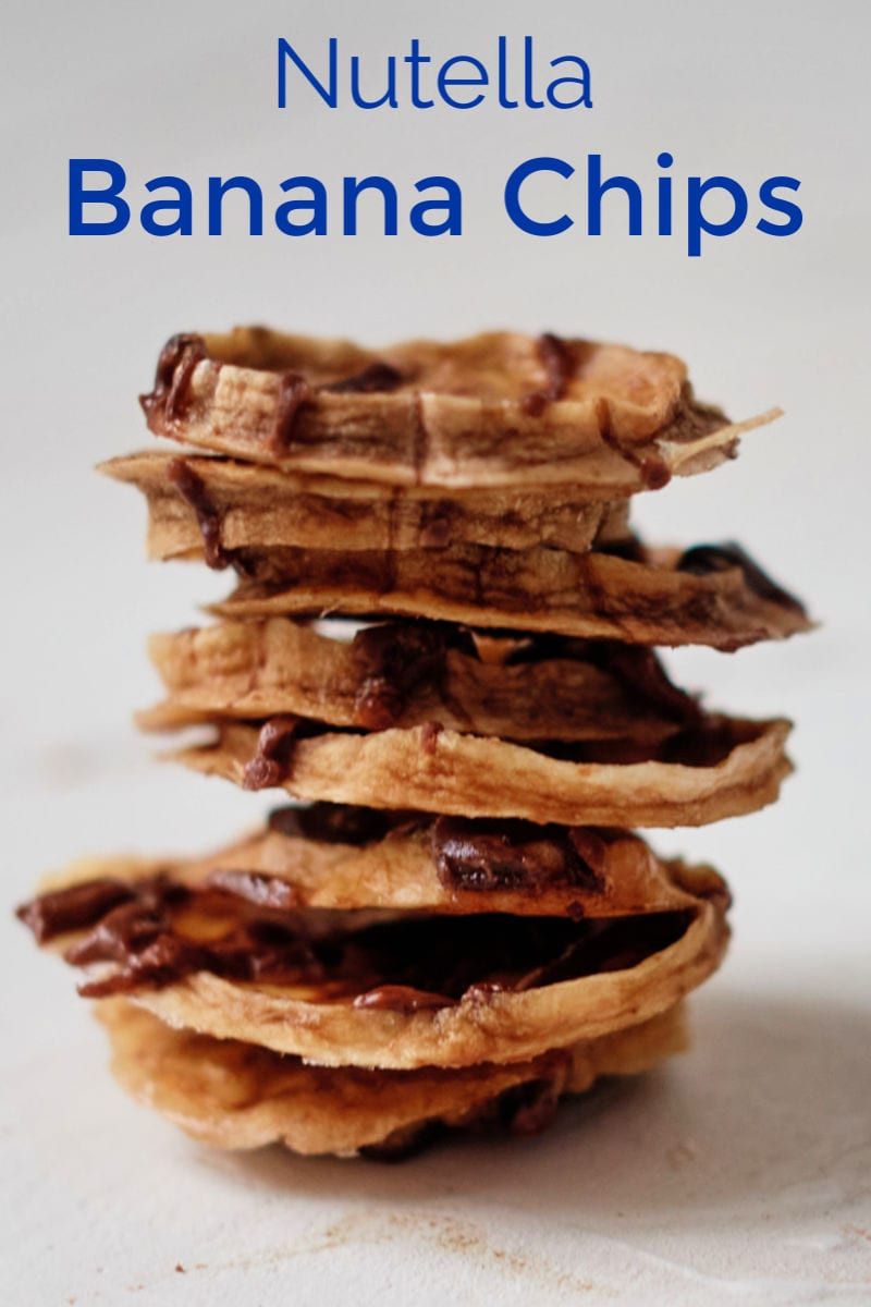 Dehydrated Nutella Banana Chips Recipe #BananaChips #DehydratedBananas #NutellaBananas #NutellaRecipe