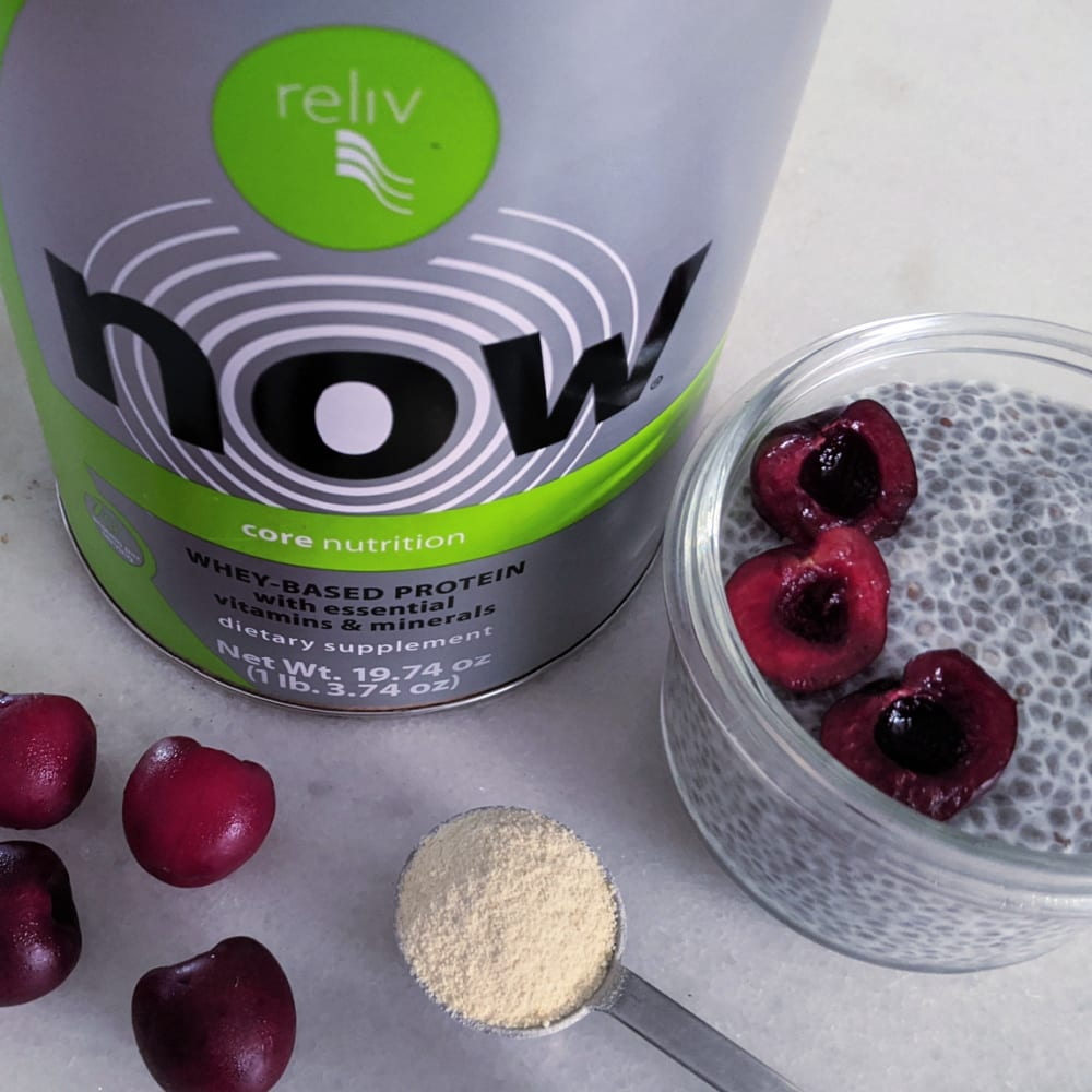 reliv protein and chia pudding
