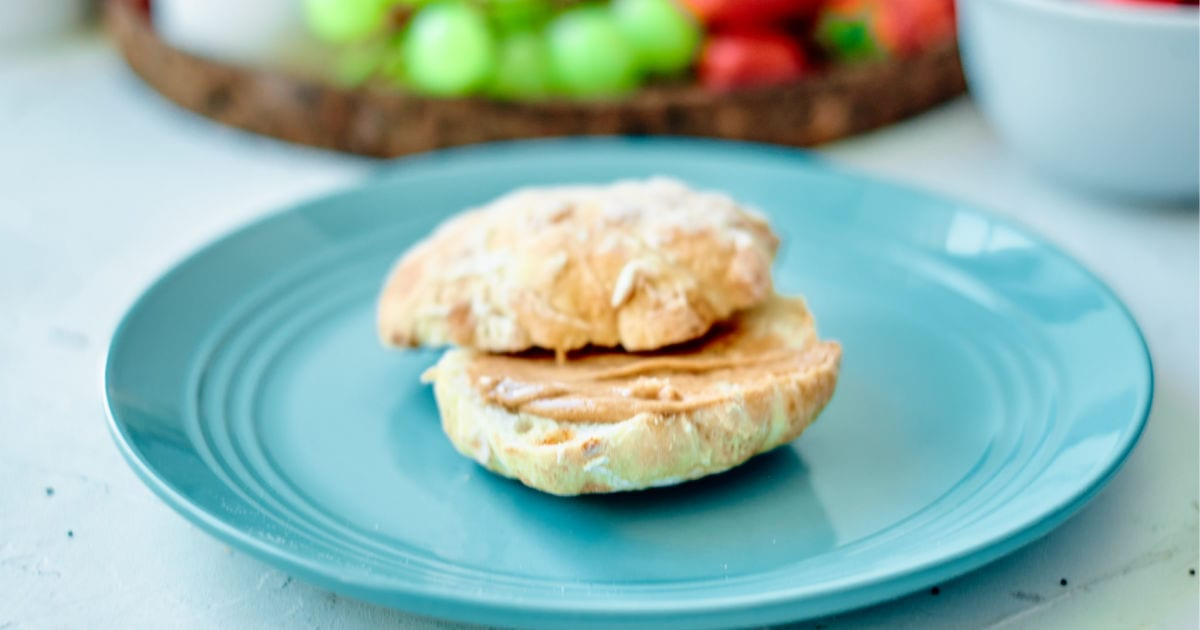 english muffin on plate