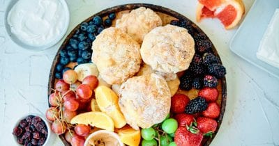 homemade english muffins brunch platter