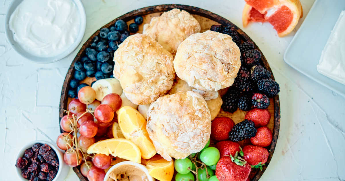 homemade english muffins brunch platter