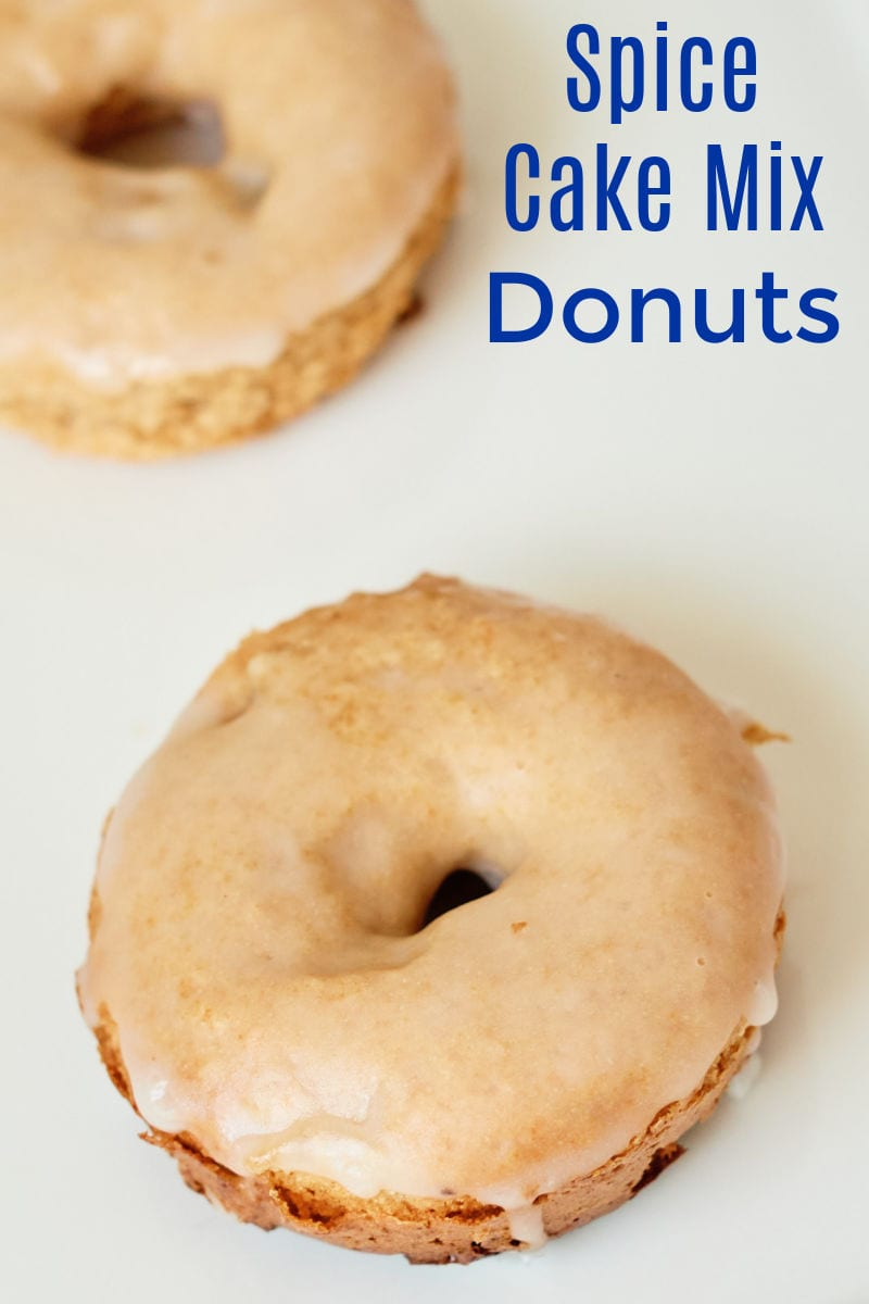 Spice Cake Donuts Recipe made from a cake mix #CakeMixHack #CakeDonuts #SpiceCake #Donuts #BakedDonuts