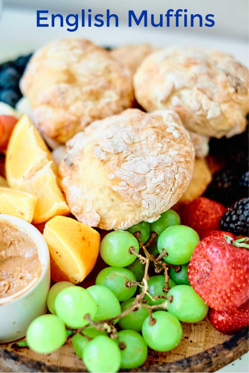 Easy No Yeast English Muffins Recipe Made with Yogurt
