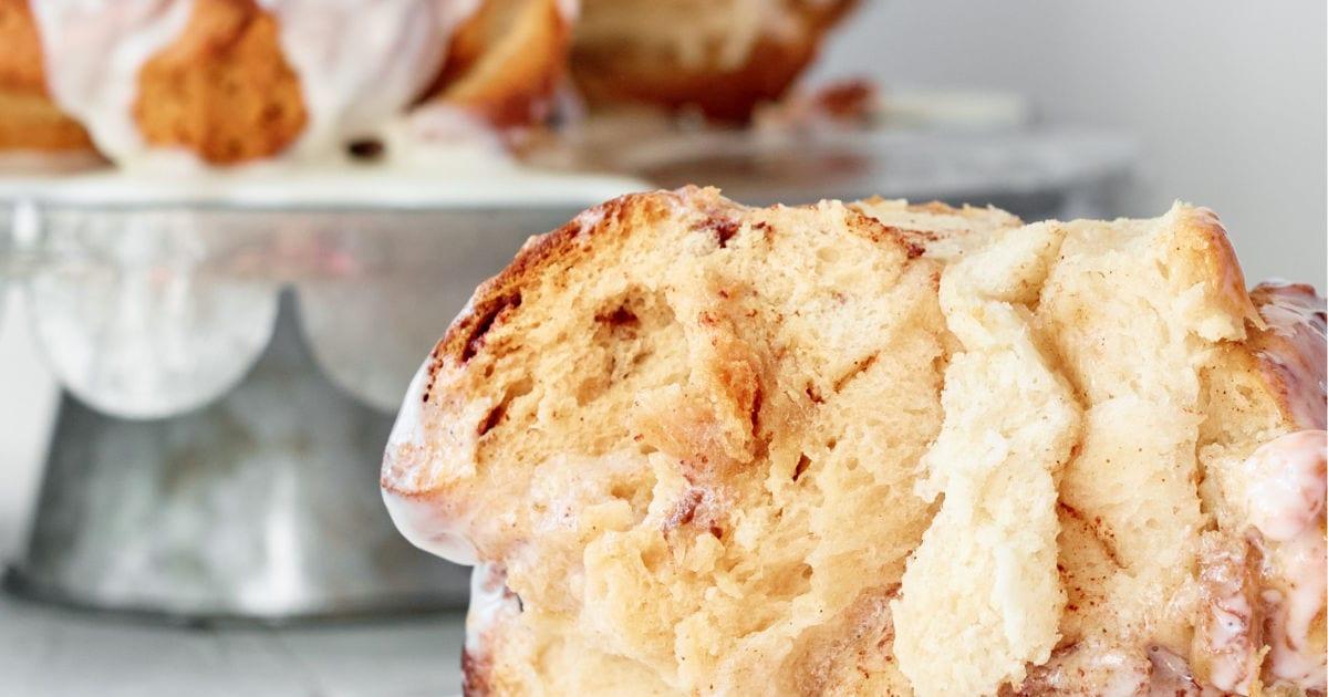 serving of apple monkey bread