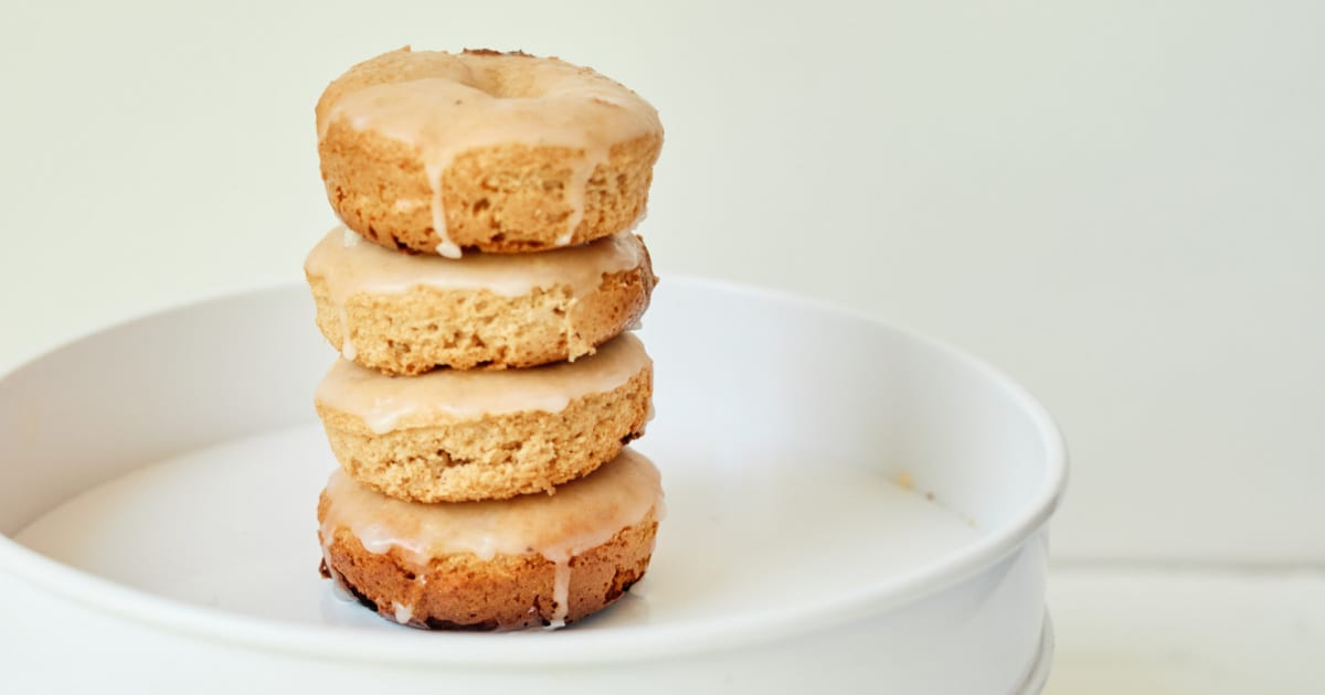 stack of spice cake donuts