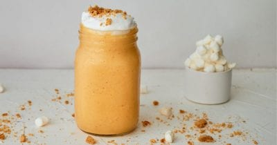 feature pumpkin fluff smoothie