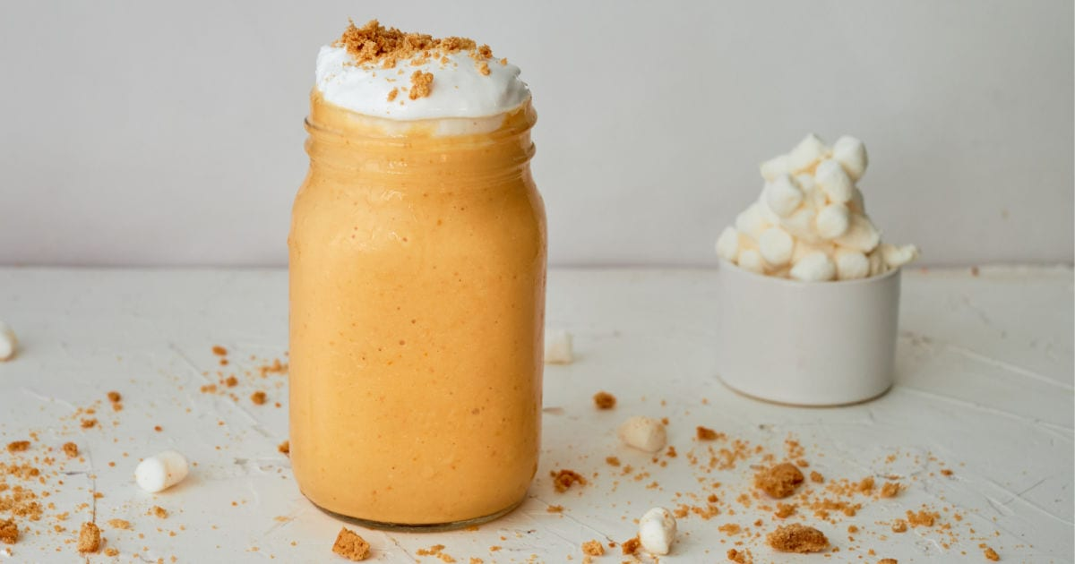 feature pumpkin fluff smoothie