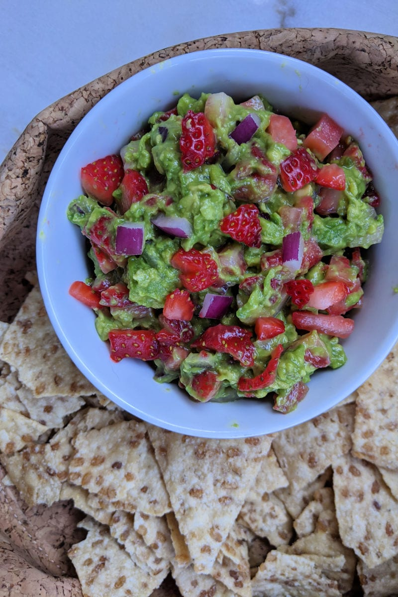 Easy Strawberry Guacamole Recipe