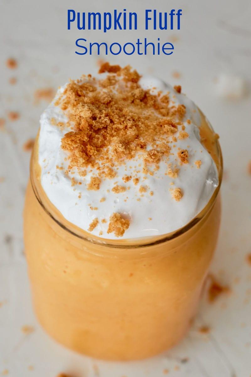Pumpkin Fluff Smoothie Recipe #SmoothieRecipe #PumpkinSpice