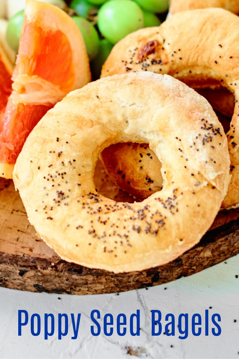 Poppy Seed Bagels Recipe for the oven or air fryer #bagel #bagels #airfryer