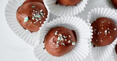 peppermint fudge truffles
