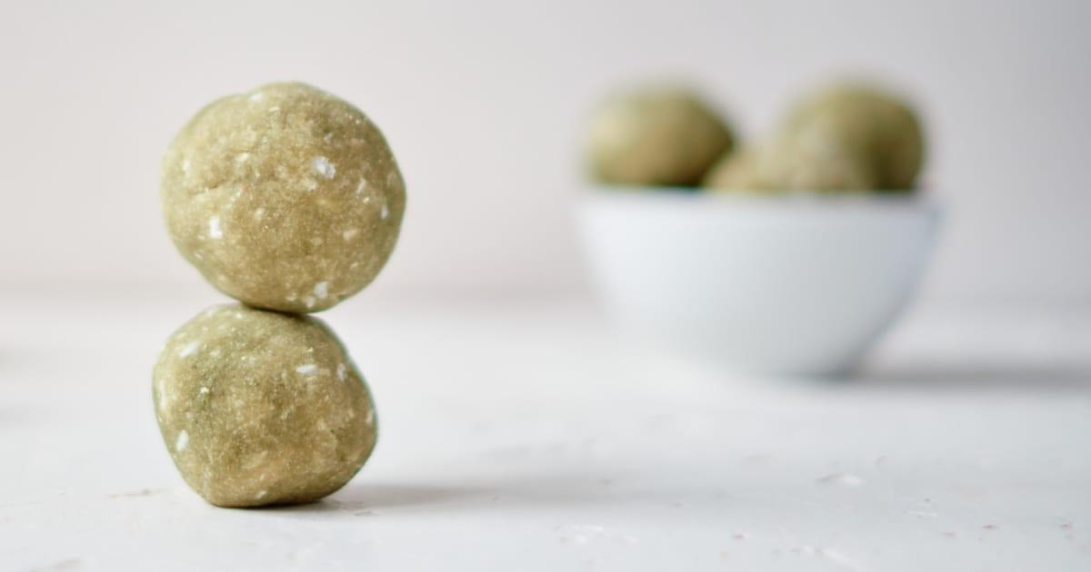 gluten free matcha coconut balls