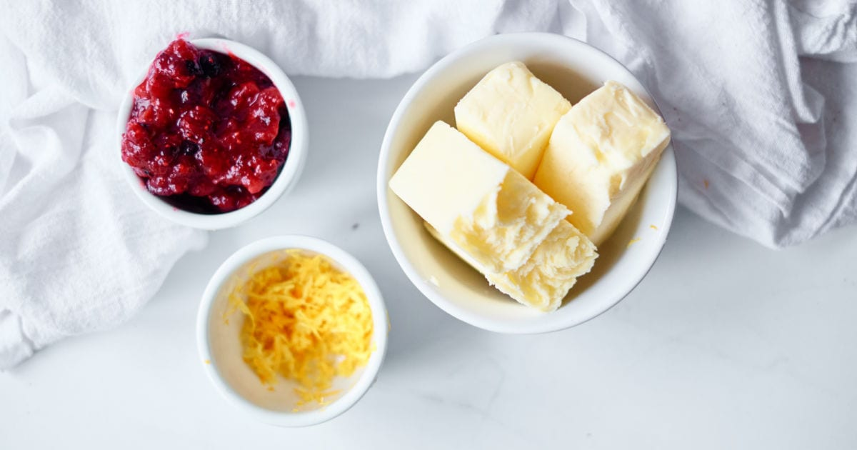 ingredients for cranberry butter