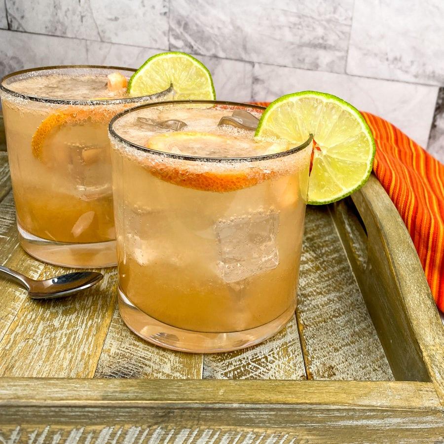 2 sparkling paloma cocktails