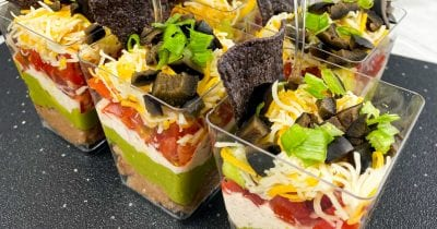 layered mexican dip snack cups