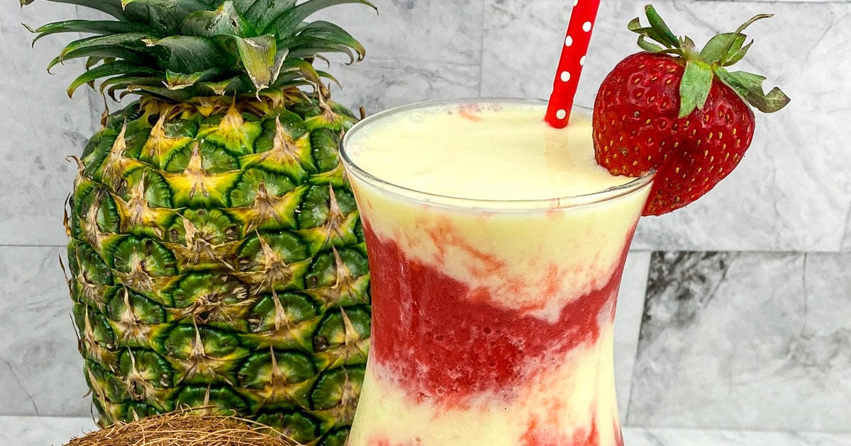 layered miami vice frozen drink