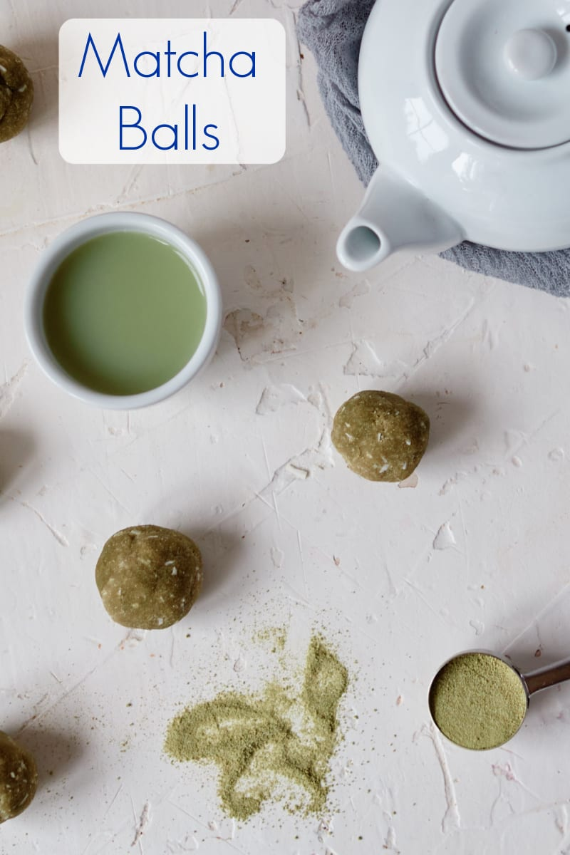 No Bake Matcha Balls Recipe
