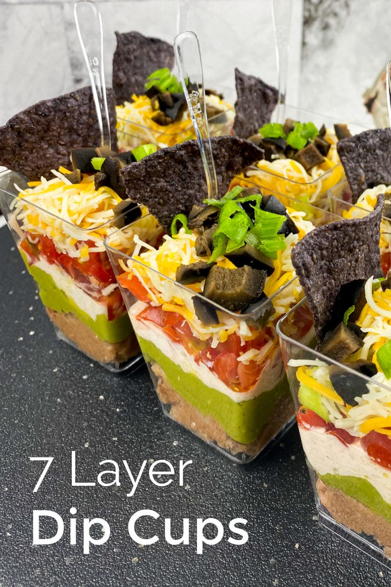 7 Layer Mexican Dip Snack Cups Recipe