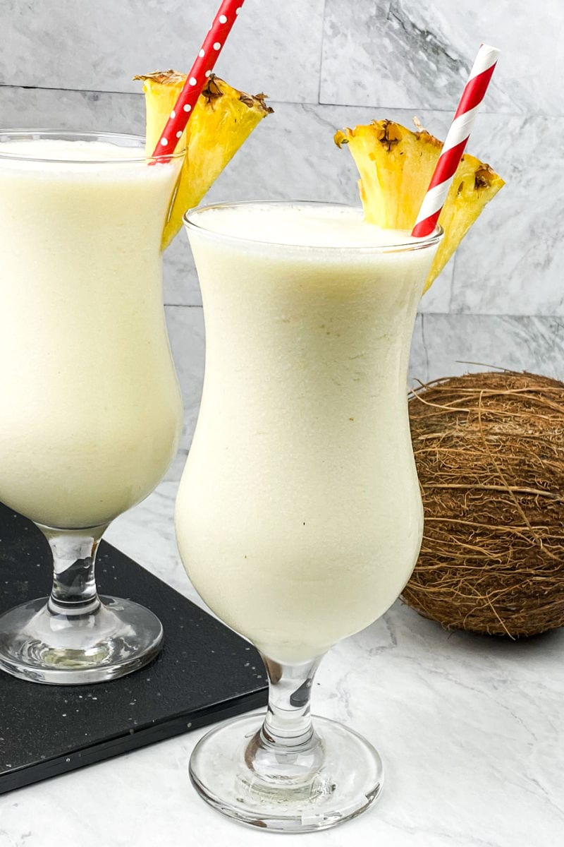 monk fruit pina colada cocktails