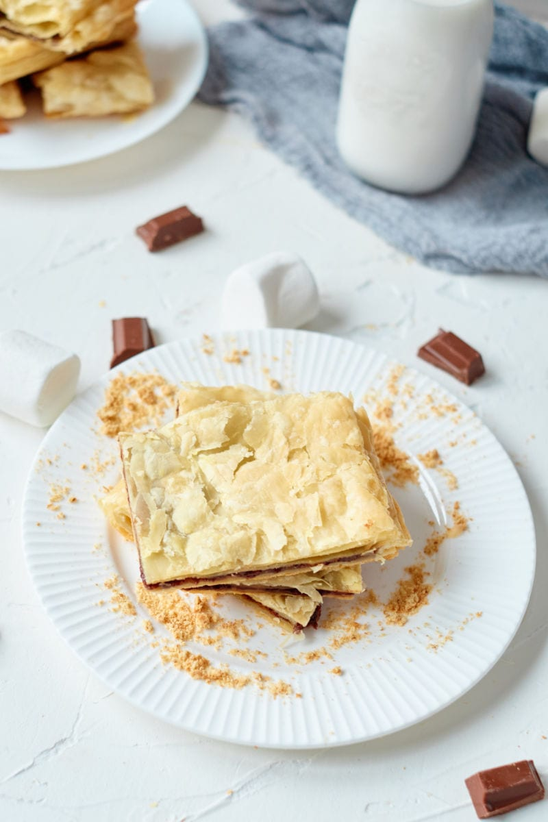 pin smores puff pastry and milk