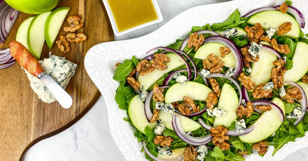 feature arugula apple salad