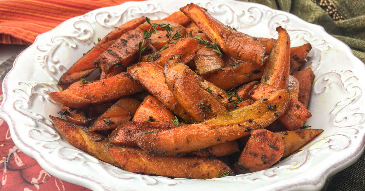 feature roasted carrots with curry spice