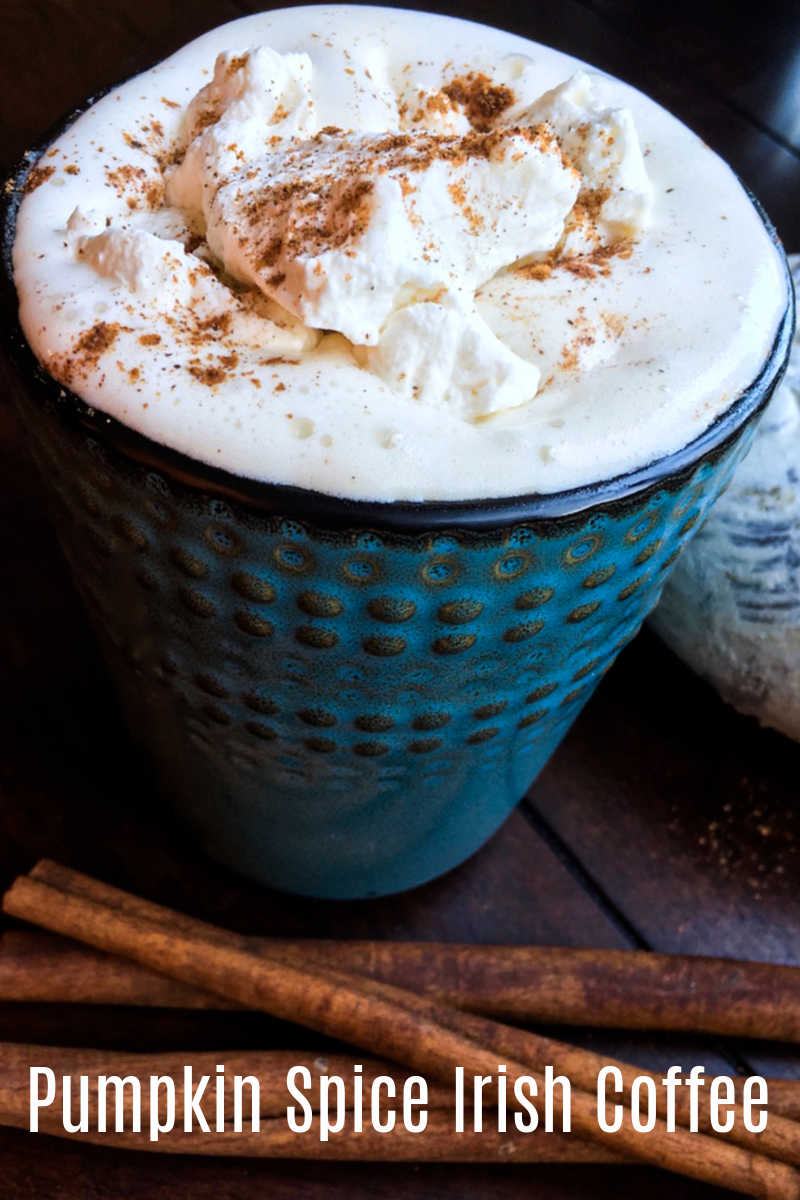 A pumpkin spice Irish coffee cocktail is a perfectly delicious way to warm yourself up, when the weather is cool.