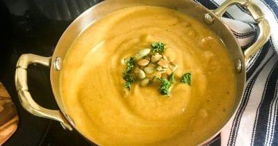 feature butternut curry soup