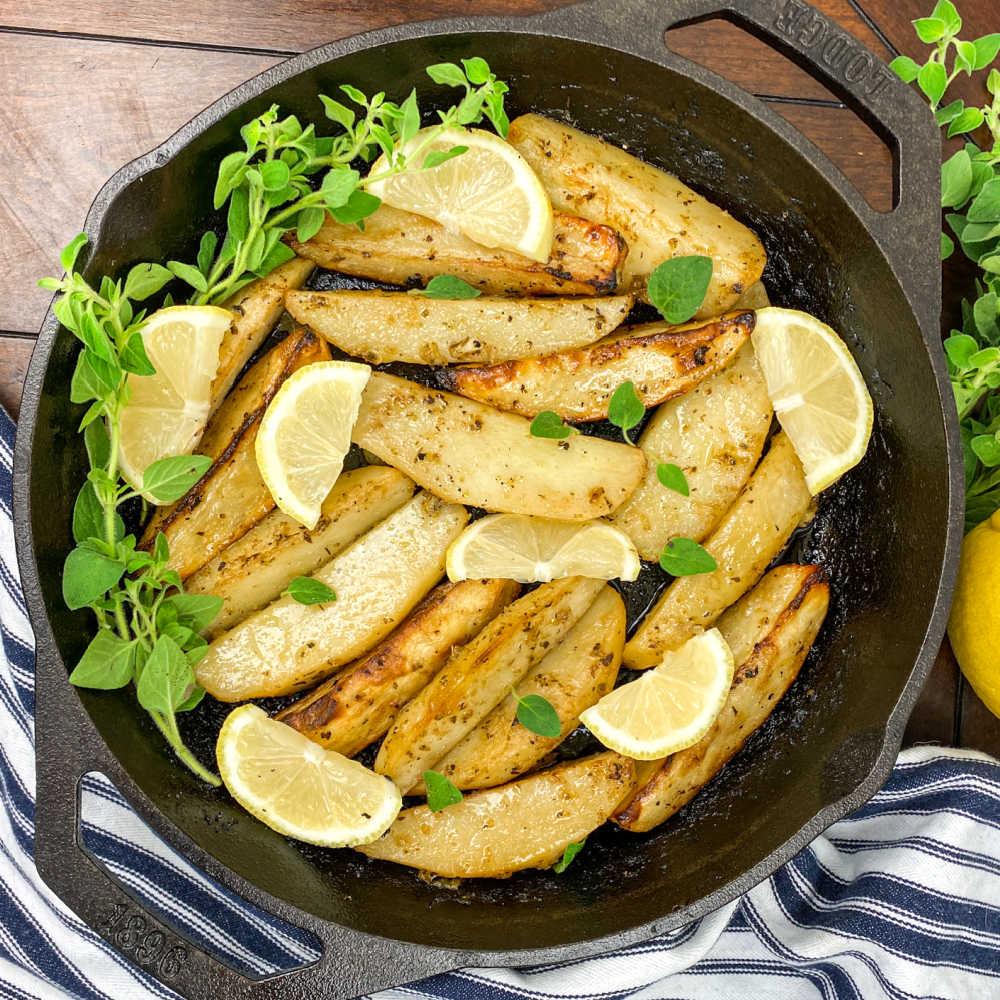 greek skillet potatoes