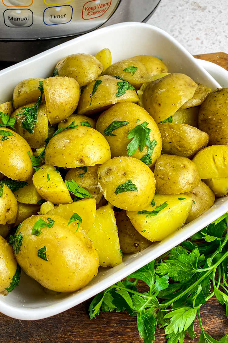 Make these easy Instant Pot baby potatoes, when you want a versatile side dish that will compliment just about any meal.