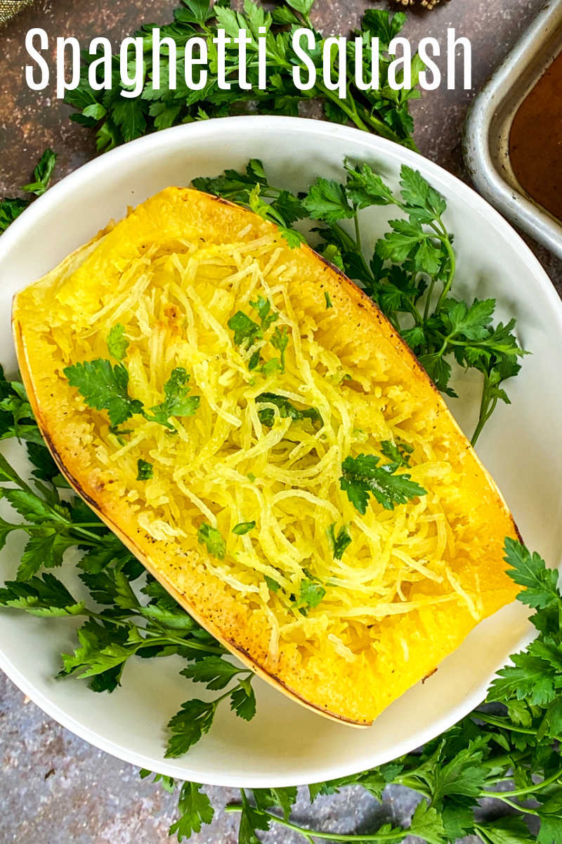 Enjoy this easy roasted spaghetti squash as a low carb pasta alternative, so that you can have a tasty keto friendly meal.