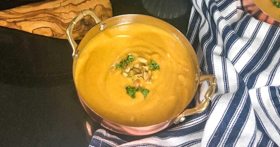 slow cooker butternut soup